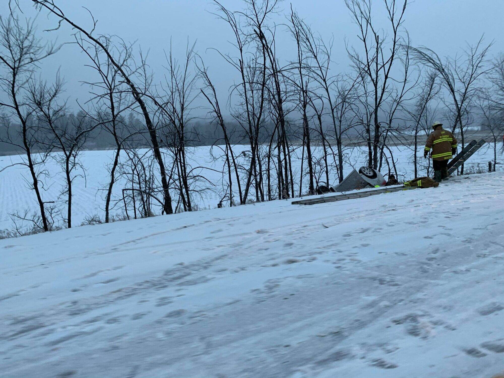Accident route 105 - Gracefield et Point Comfort