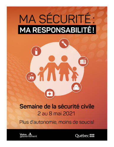 Affiche Semaine de la sécurité civile 2021 - format 8,5 x 11
