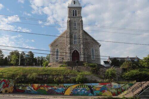 murale art urbain maniwaki eglise église